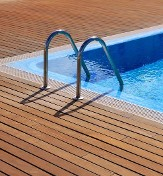 Pool with Wood Deck - Pool Services